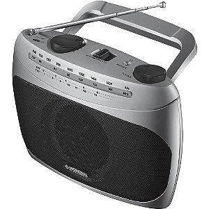 Rádio Portátil Mondial RP-01 AM/FM c/ Sintonizador de Canais Bivolt Preto