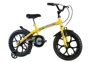 Bicicleta Dino Aro 16 Amarelo - Track & Bikes