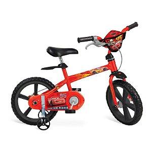 """Bicicleta 14"""" Cars Disney - Bandeirante"""