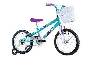 Bicicleta Track Girl Aro 16 Azul e Branca - Track & Bikes