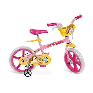 """Bicicleta 14"""" Princesas Disney - Bela - Bandeirante"""