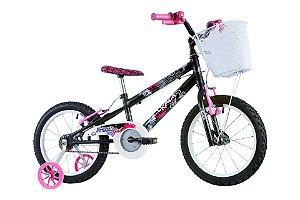 Bicicleta Track Girl Aro 16 Preto/Rosa - Track & Bikes