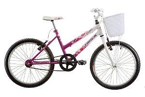 "Bicicleta Infanto Juvenil Aro 20"" Cindy Magento/Branco- Track & Bikes"
