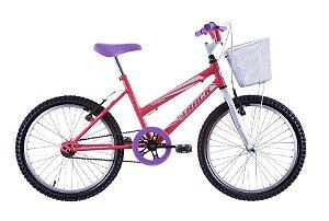 "Bicicleta Infanto Juvenil Aro 20"" Cindy Salmão e Branco - Track & Bikes"