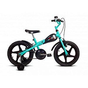 Bicicleta Infantil Aro 16 VR 600 Turquesa/Preto- Verden Bikes