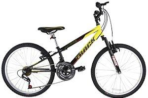 Bicicleta Axess-Pró 18v Com Suspensão Dianteira Amarelo/Preto - Track & Bikes