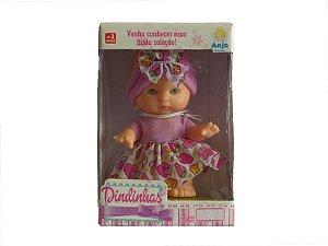 Boneca Dindinhas Roxa - Anjo Brinquedos