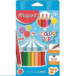 Lápis De Cor Color Peps Jumbo Maped 12 Cores