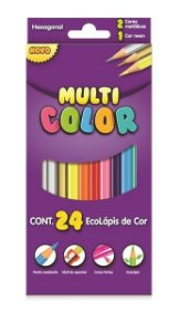 Ecolápis De Cor Multi Color 24 Cores