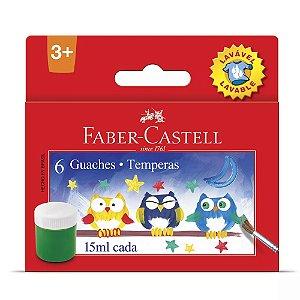 Tinta Guache Faber-castell Lavável 6 Cores