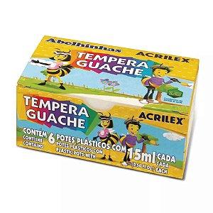Tempera Guache Acrilex Abelhinhas 6 Cores 15ml