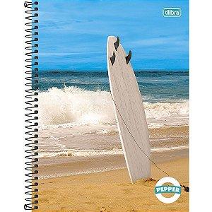 Caderno Universitário Capa Dura Tilibra Pepper Surf 10 Materias 160 Folhas