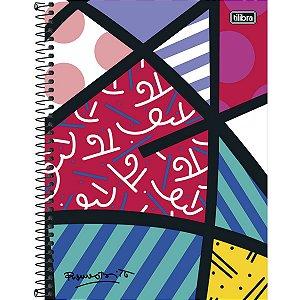 Caderno Universitário Tilibra Romero Britto 10 matérias 200 Folhas