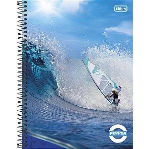 Caderno Universitário Tilibra Pepper Windsurf 1x1 80 Folhas