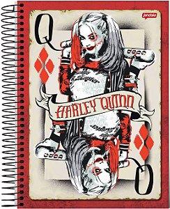 """Caderno Universitário Harley Quinn """"Queen"""" 1x1 96 Fls"""