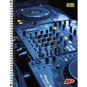 Caderno Universitário Tilibra Mais+ DJ 1x1 96 Folhas