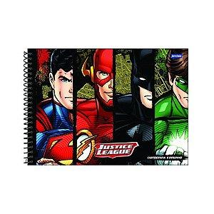 Caderno De Desenho Jandaia Capa Dura Liga Da Justiça Tipo 2 96 Folhas