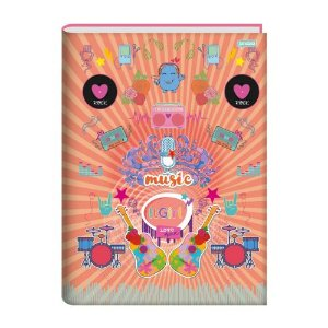 Caderno De Brochura 1/4 Jandaia It Girl Music 96 Folhas