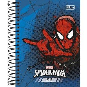 Agenda Espiral Diária Tilibra Spider-man 2018 Capa Dura Azul 176 Folhas