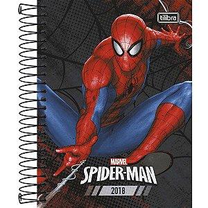 Agenda Espiral Diária Tilibra Spider-man 2018 Capa Dura Preto 176 Folhas