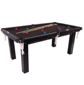 Mesa de Snooker Residencial 1,87x1,08cm Tecido Preto - Procópio