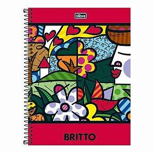 Caderno Universitário Tilibra Romero Britto 1 matéria 96 Folhas 200mm x 275mm