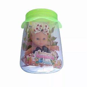 Bonequinha De Pote Corações - Anjo Brinquedos