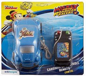 Carrinho De Controle Remoto Com Fio Mickey - Etitoys