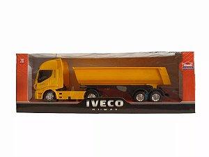 Caminhão De Brinquedo Iveco Hi Way Basculante Amarelo