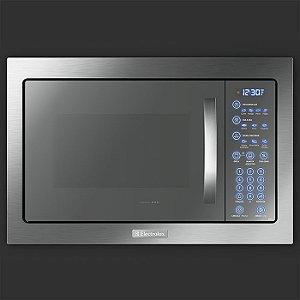 Microondas de Embutir Electrolux MB43T Painel Blue Touch e Função Tira-odor com Acessórios Crispy e Rack Grill
