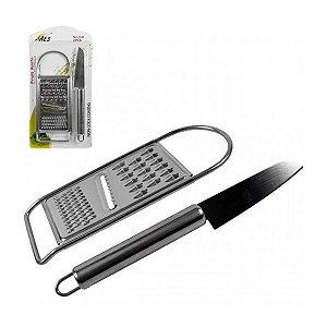 Kit Cozinha Inox AES com Ralador e Faca
