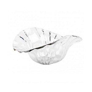 Fruteira de Plástico Transparente 31x25x13cm Monaliza