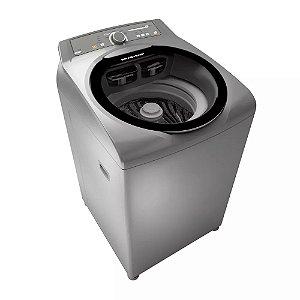 Máquina de Lavar Brastemp BWG11AR 11kg Inox c/ Sistema Fast Cycle e Função Extra Seca