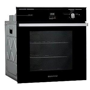 Forno de Embutir a Gás Brastemp BOA84AE 78 litros Preto c/ Grill e Timer Touch 220V
