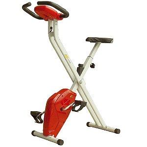 Bicicleta Ergométrica Dobrável Konnen Fitness X-Bike Vermelho/Branco
