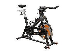 Bike Indoor Wellness PRO - Roda de Inércia 19 kg - Transmissão Corrente - Ajuste de Nível Contínuo de Resistência