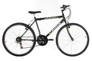 Bicicleta Aro 26 Viper 18 Marchas PretoFosco- Track & Bikes