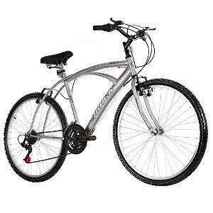 Bicicleta Aro 26 Comfort Fast 100 21 Marchas Prata - Track & Bikes