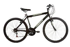 Bicicleta Aro 26 MTB Alum Mountainer 18 Marchas Preta - Track & Bikes