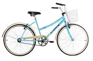 Bicicleta Aro 26 Comfort Classic Plus Azul  - Track & Bikes