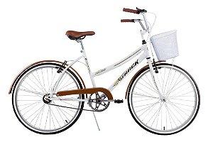 Bicicleta Aro 26 Classic Plus Branca/Marron - Track & Bikes