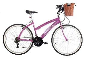 Bicicleta Week 200 Plus Alum Aro 26 Confort Pink Metálico - Track & Bikes