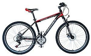 Bicicleta Fischer Runner Alloy FX Aro 26 Full Preta 21 Velocidades