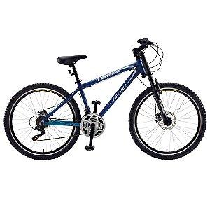 Bicicleta Extreme Aro 26 c/ 21 Marchas Preto/Azul - Fischer
