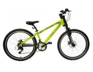 Bicicleta Extreme Aro 26 c/ 21 Marchas Amarelo/Preto - Fischer