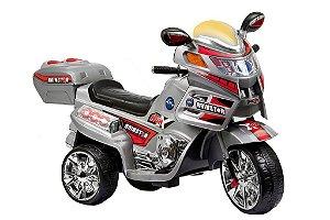 Moto Elétrica Infantil TF-830 6 Watts Prata - Track & Bikes