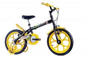 Bicicleta Dino Aro 16 Preto/Amarelo - Track & Bikes