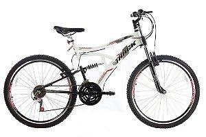 Bicicleta Boxxer Aro 26 Aero Full Susp 21V Branca - Track & Bikes