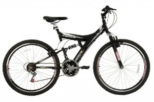 Bicicleta TB-300 Aro 26  Suspensão Aero 18 Marchas Preto Fosco - Track & Bikes