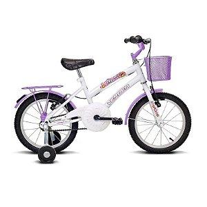 "Bicicleta infantil Aro 16"" Breeze Branco e Lilás - Verden Bikes"